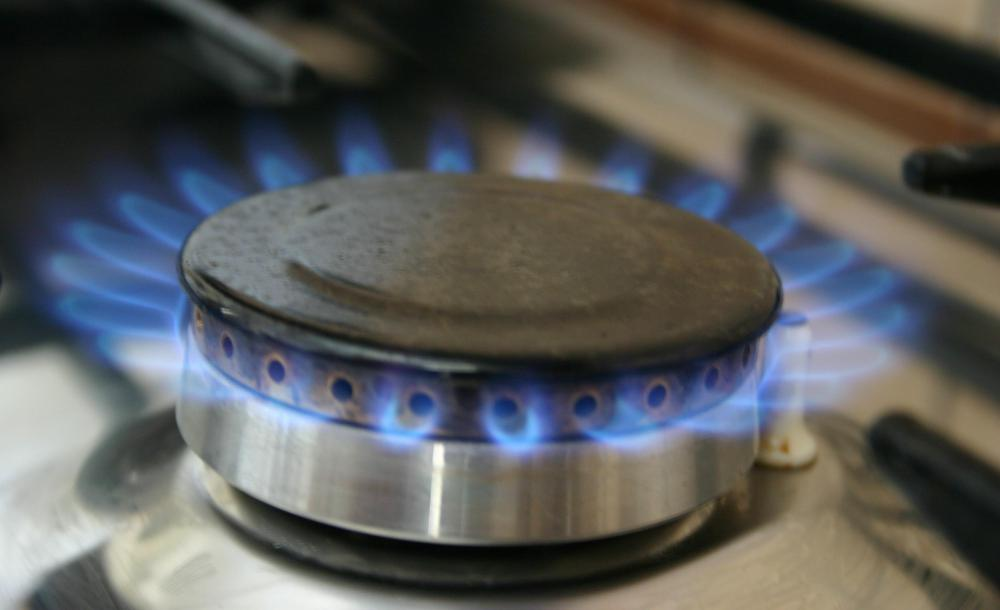Gas appliances may be used in a kitchen.