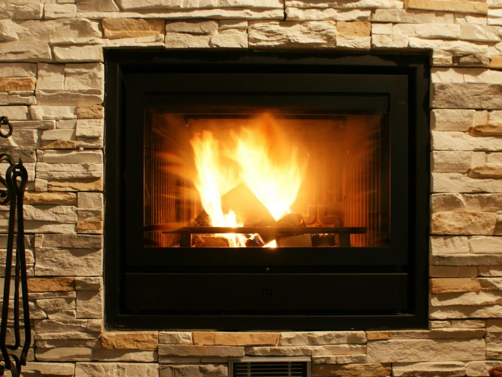 Natural gas may be used in fireplaces.