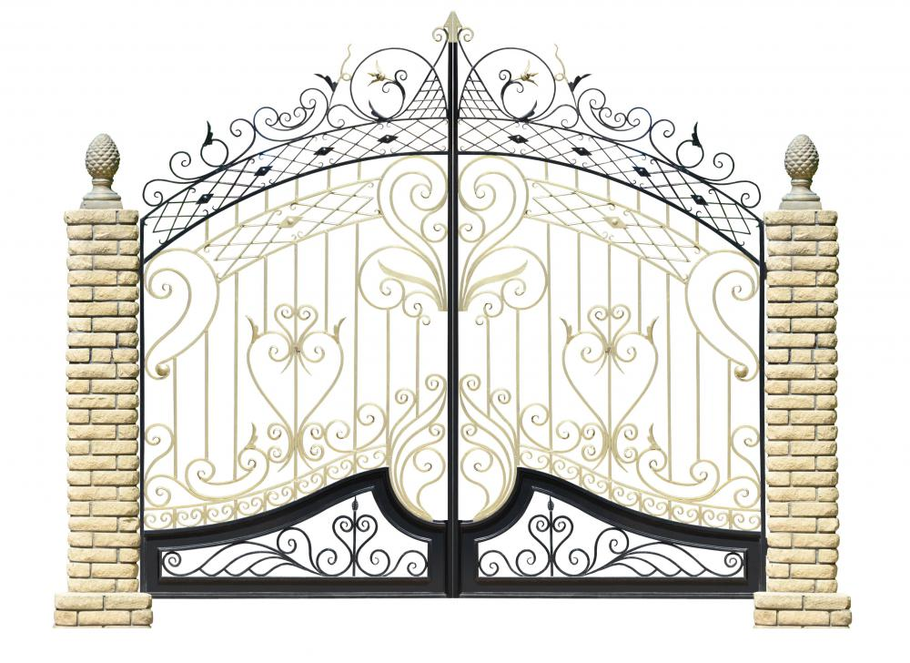 ornate wrought iron gate. wrought iron fencing can be extremely decorative ornate gate i