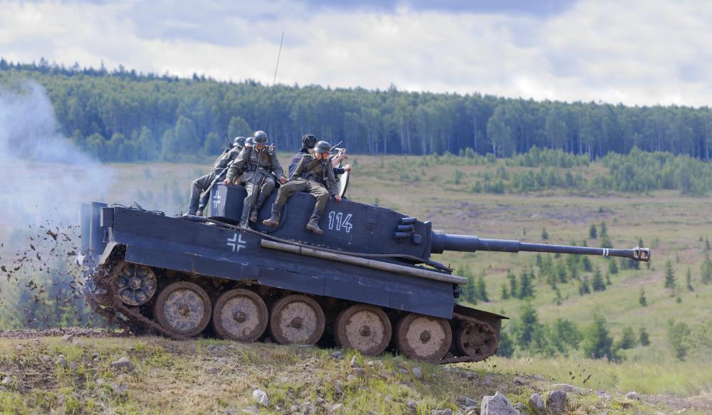 Bogies are commonly found on military tanks.