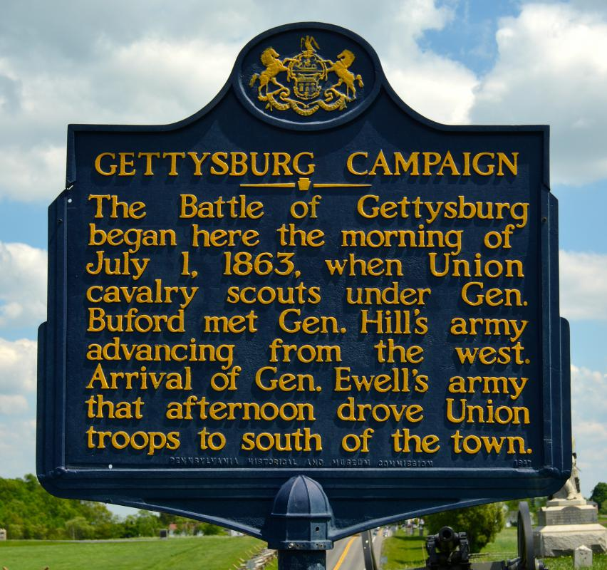 Gettysburg, Pennsylvania is a good example of a historical tourist destination.
