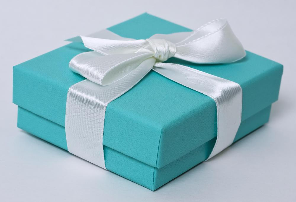 tiffany blue gift box with a white ribbon - Tiffany And Co Color Code