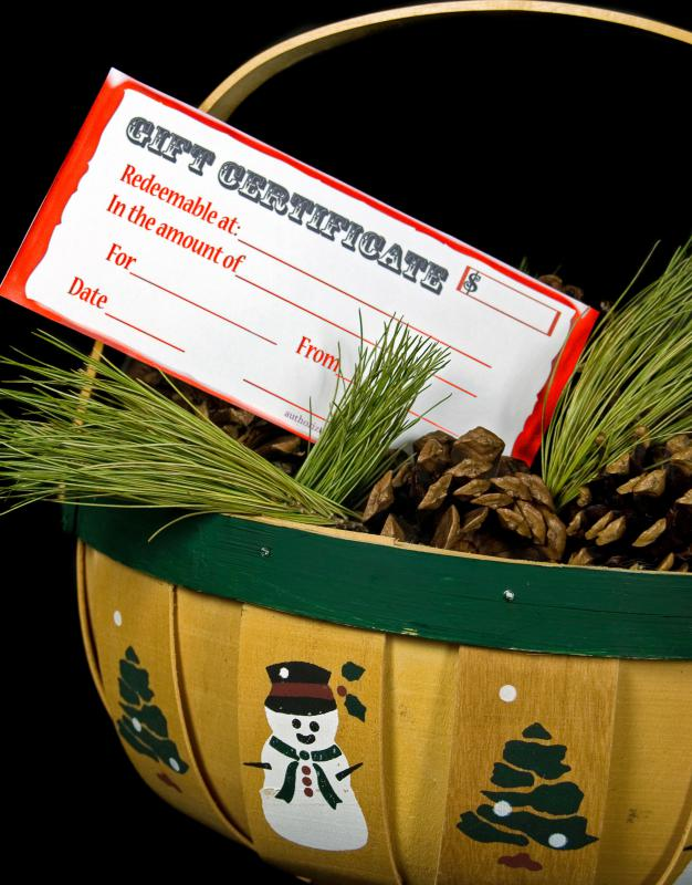 Stocking stuffers might include a gift certificate.