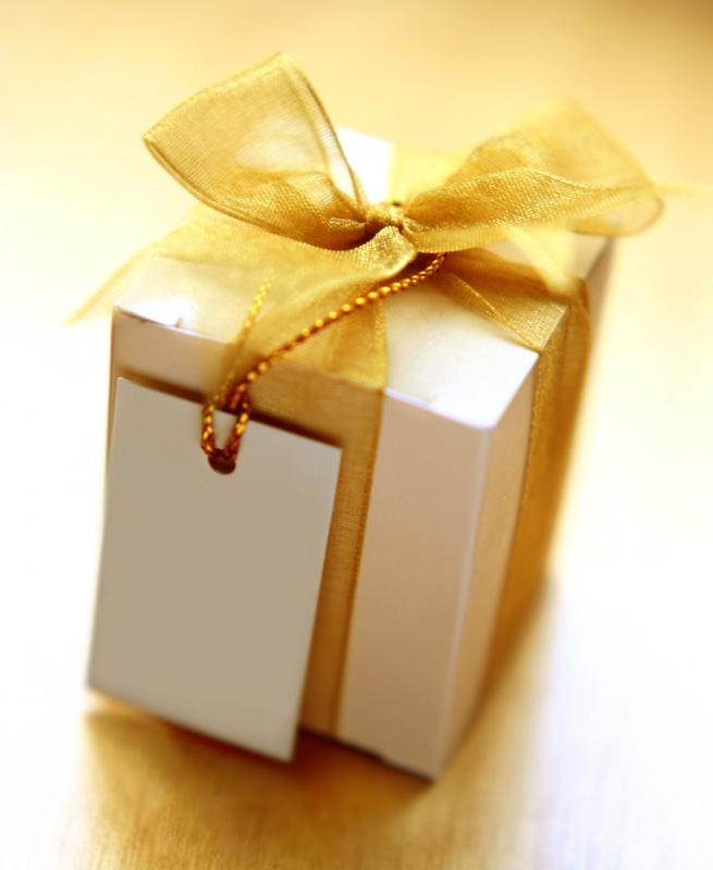 Before giving a present to a colleague, check your employer's policy on gifts.