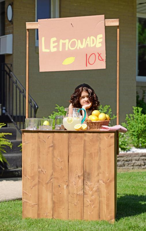 Kids can sell lemonade to neighbors on hot summer days.