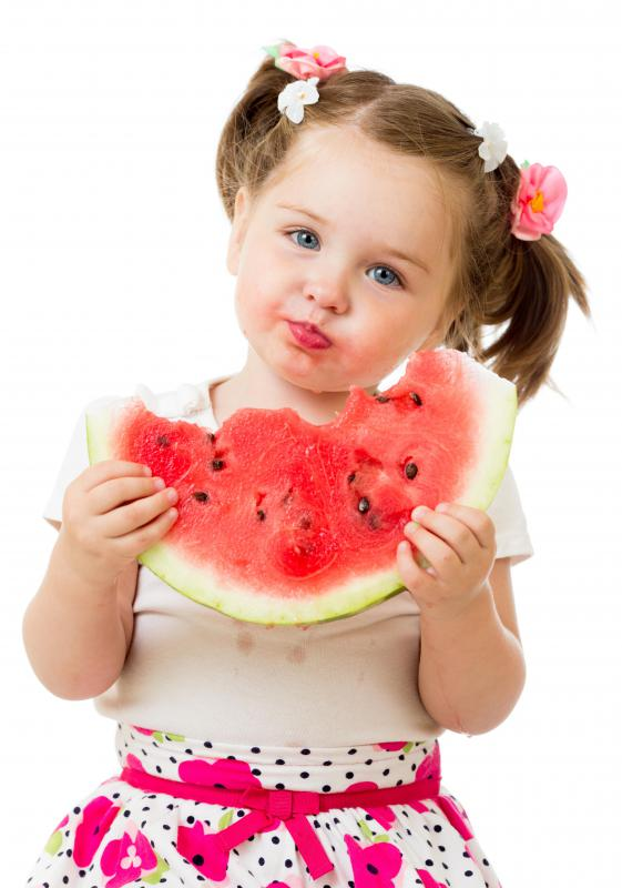 Fruits are a healthy snack for children.