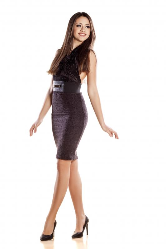 Wearing Spanx under a dress will eliminate any bulges.