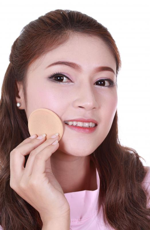 Foundation, which covers up perceived skin blemishes, is the first step to applying makeup.