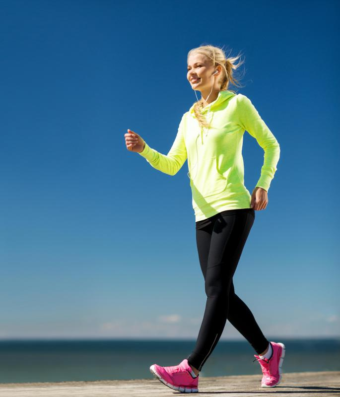 Brisk walking may help reduce belly fat.