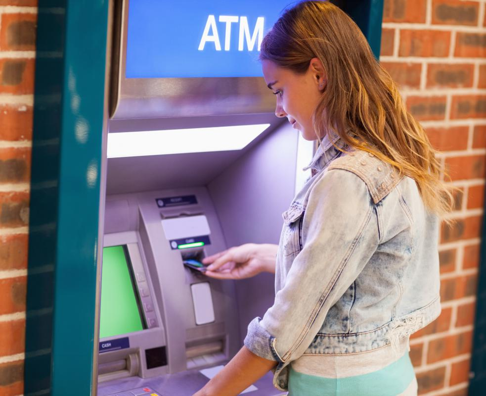 An ATM may charge users a fee for its use.