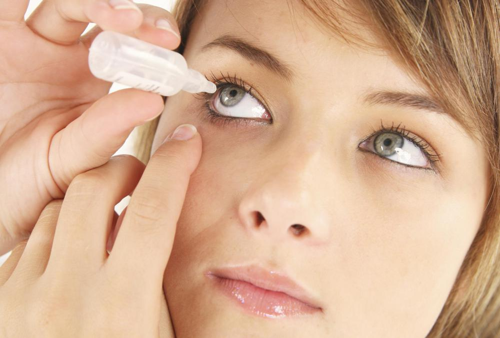 Eye drops have about a four-week shelf life.