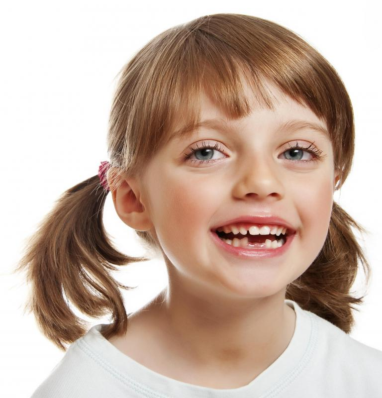 Children have baby or deciduous teeth.