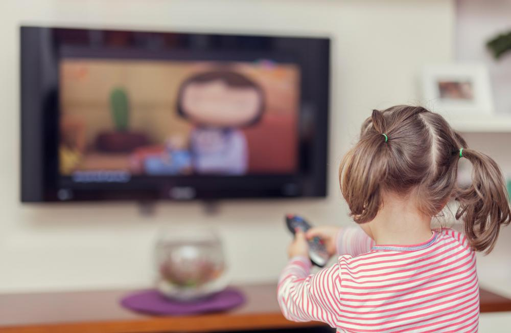 Animated cartoons are popular with children.