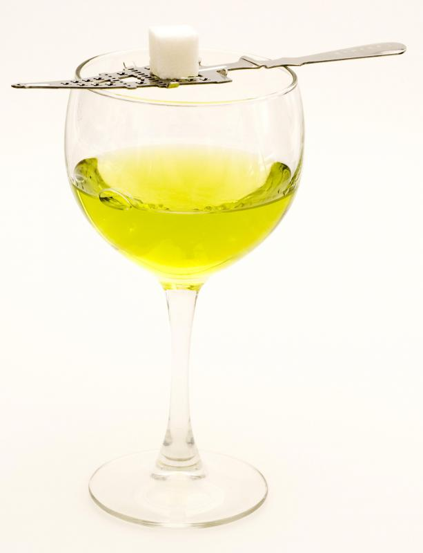 Anise oil is commonly used in absinthe.