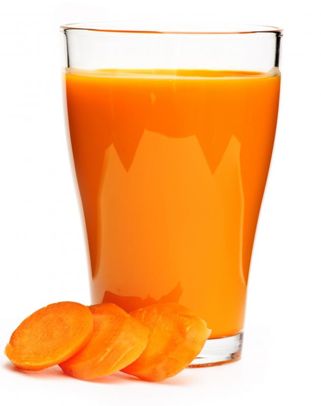 Carrot juice, one of the ingredients in carrot soap.
