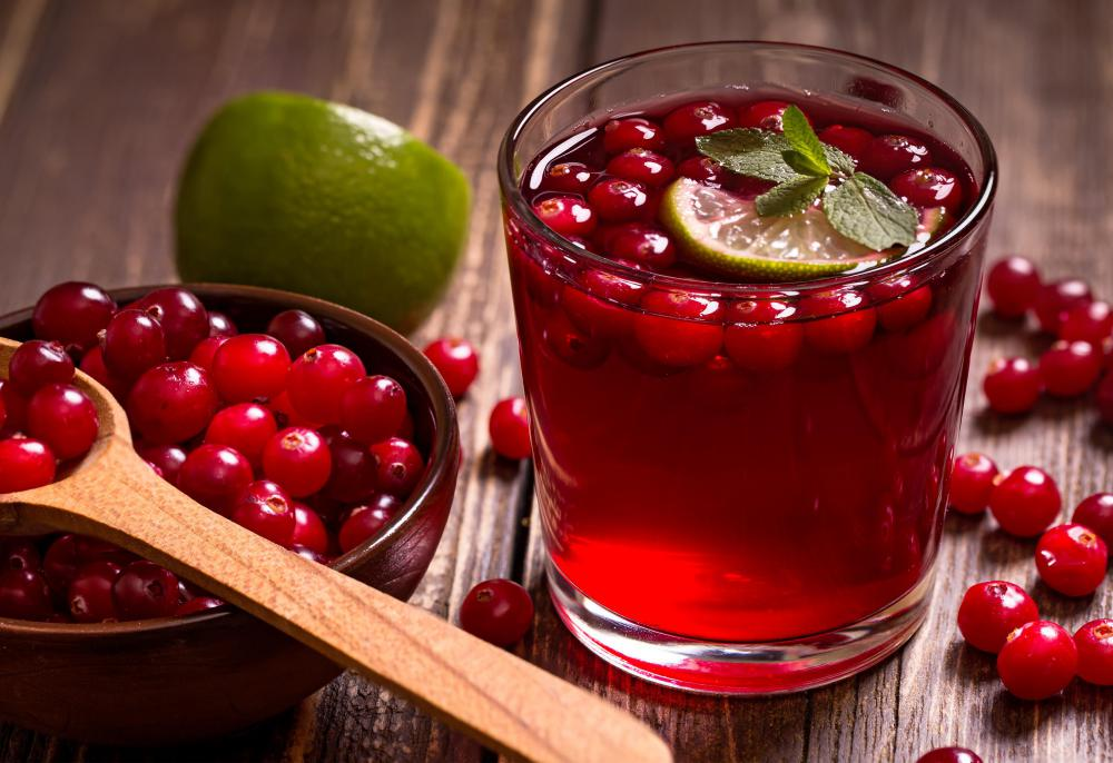It's common for cranberries to be made into a refreshing juice.