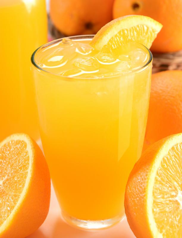 Orange juice may be fortified with calcium.