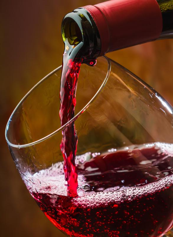 A wine glass is designed to show off a wine's color, aroma, texture and flavor.
