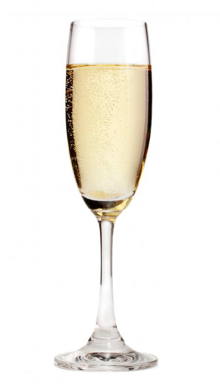 Champagne flutes can be a great engagement gift.