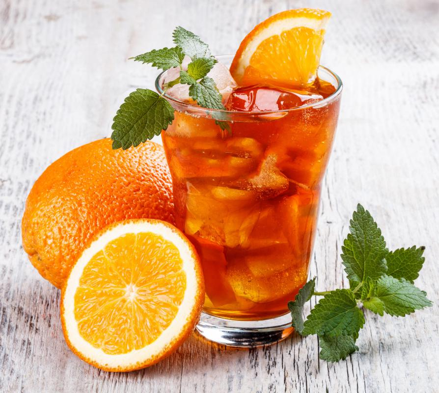 Bergamot sour oranges are often used to flavor tea.