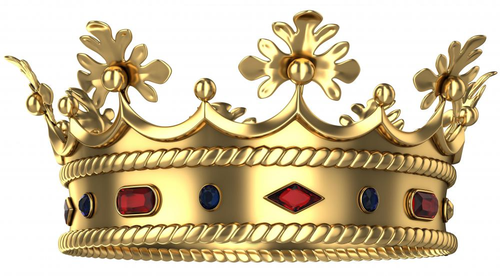 A prop master may provide a crown for a theater production involving kingly characters.