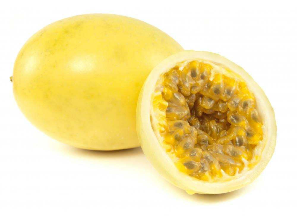 Golden passion fruit is high in vitamin C.