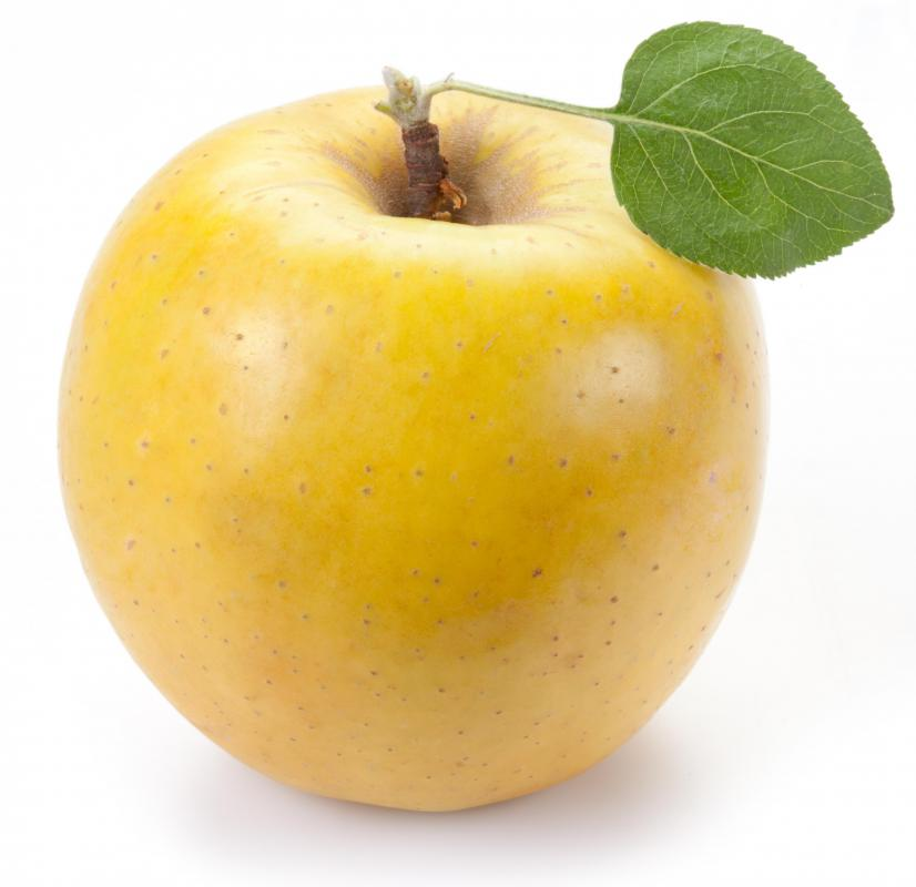 A Golden Delicious apple peels can be used to give eggs a yellow or green color.