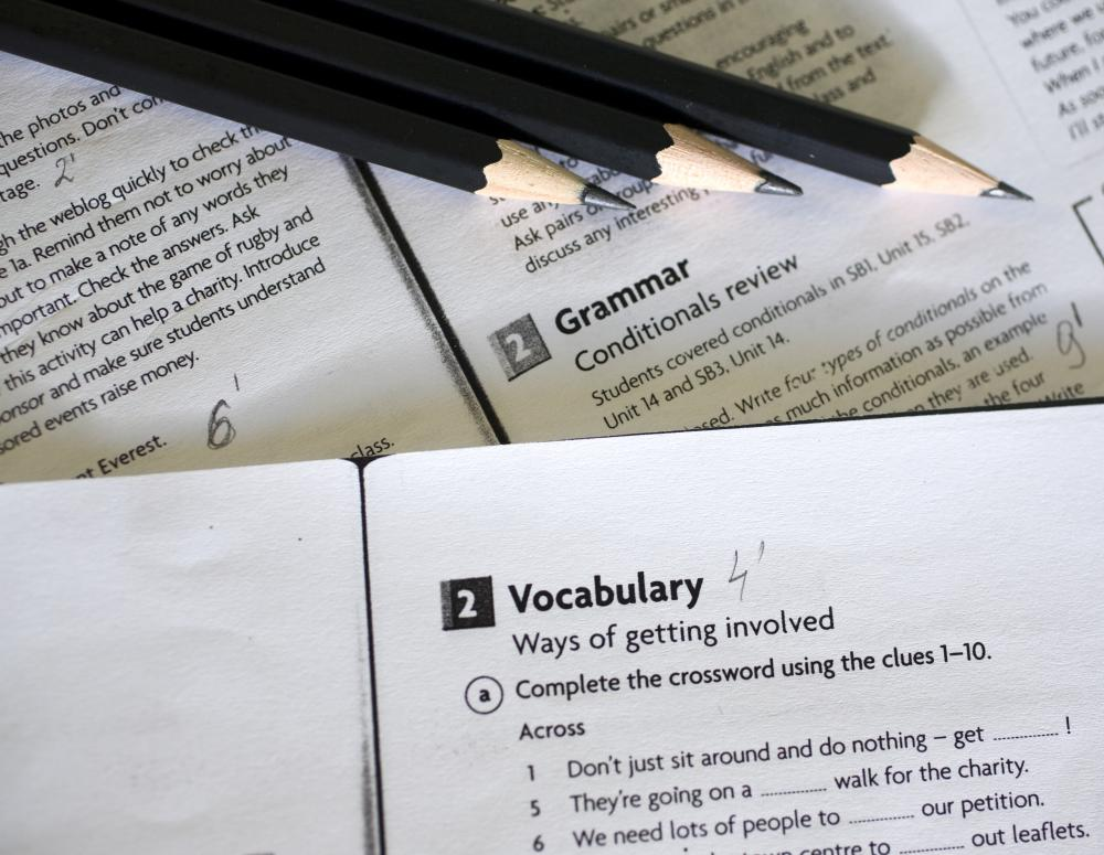 Printed materials such as worksheets are available to improve vocabulary skills.