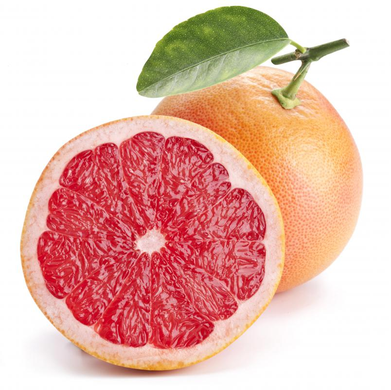 Grapefruit is a good source of vitamin C.