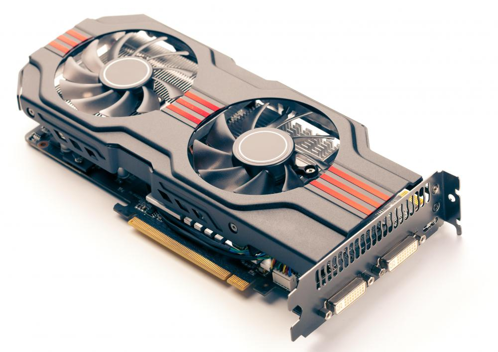 A graphics card may be used to improve gaming performance.