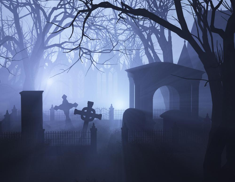 Graveyards are often thought to contain vampires in folklore.