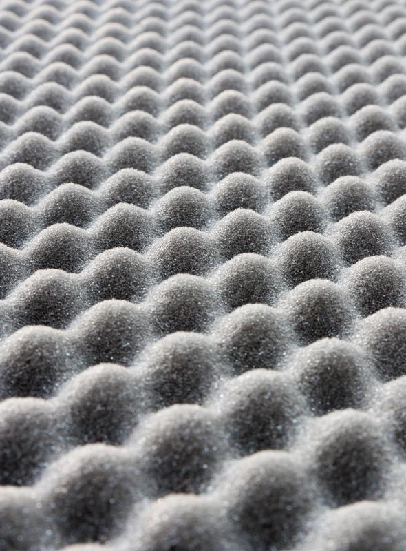Egg crate foam is one type of foam pad that can be used for part or all of a bed.