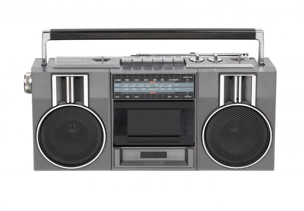 Boom boxes were a popular form of cassette player in the 1980s and 1990s.