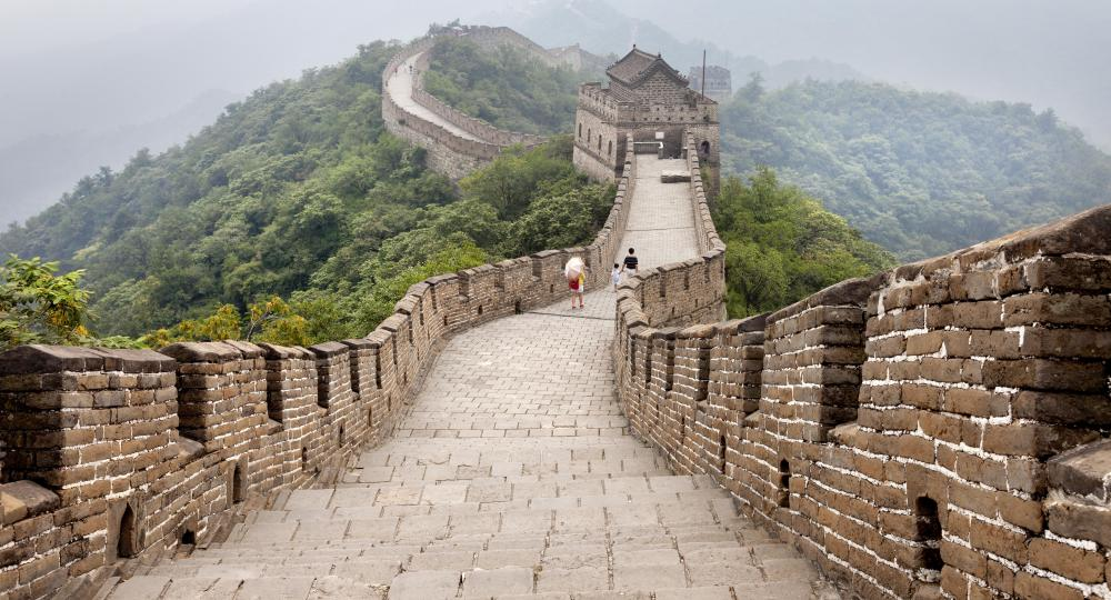 The Great Wall of China is a notable example of a masonry wall.