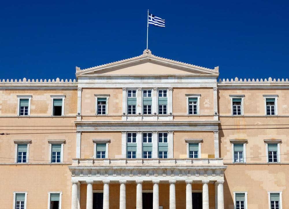 Greece's parliament building is located in Athens.