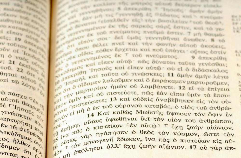 A divinity degree may require students study Greek, since the New Testament was originally written in the language.