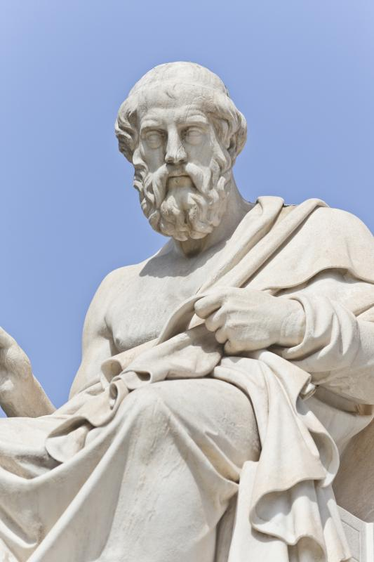 Sculpture of Plato, author of The Republic.