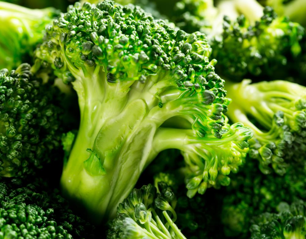 Broccoli is a source of cysteine.