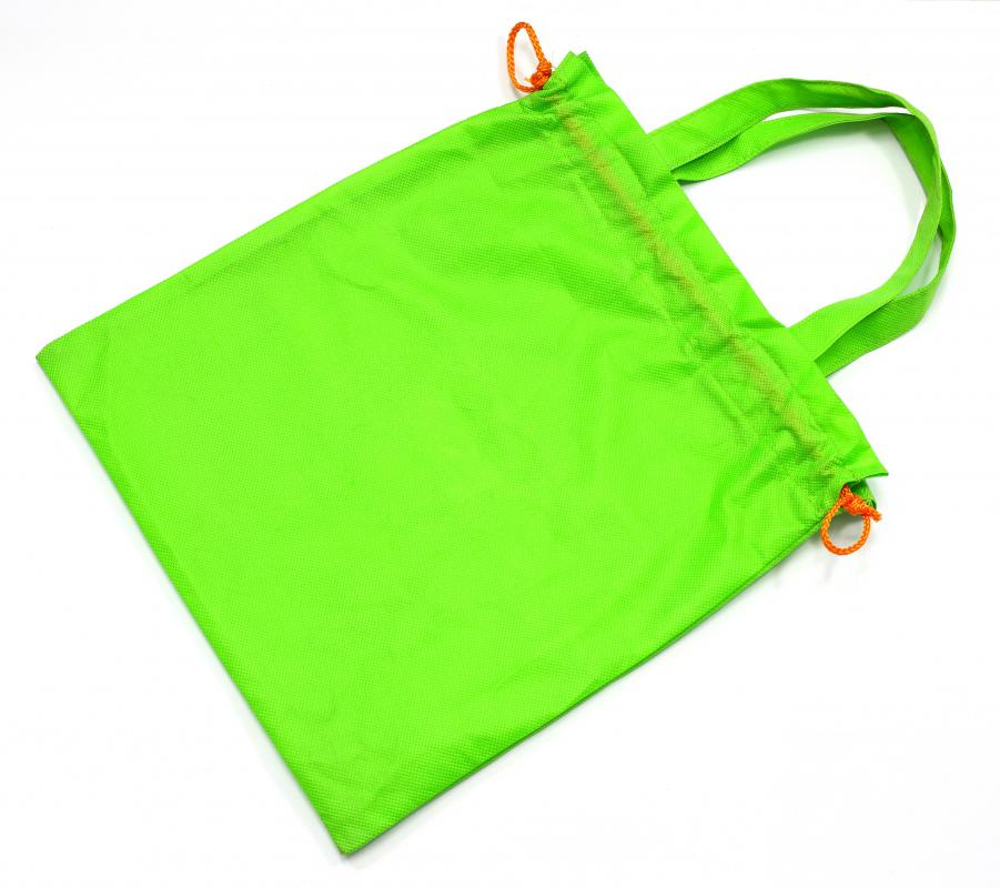 A drawstring bag can be used to store gym clothes.