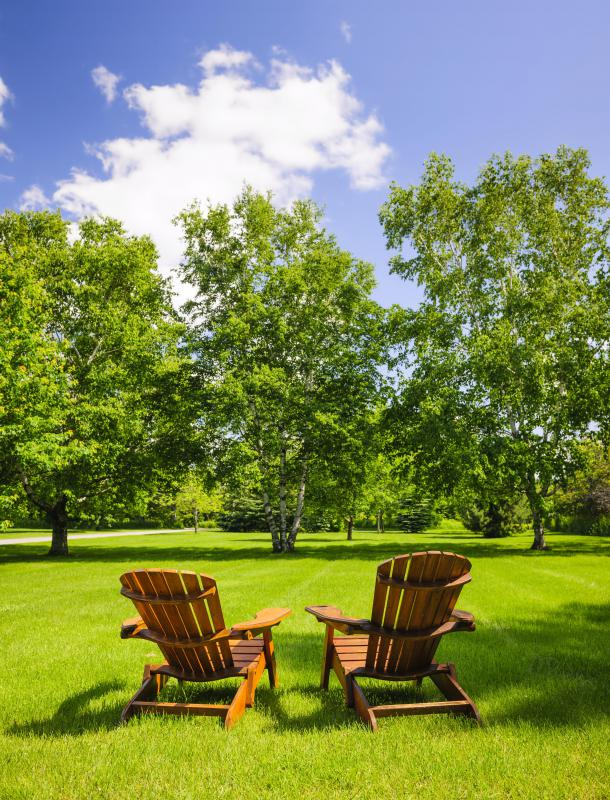 People who have drought-resistant grass can enjoy green lawns during a drought.