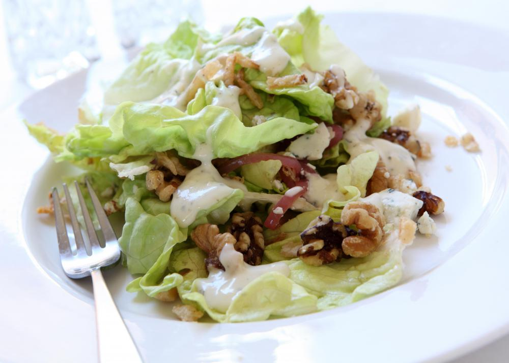 Boston lettuce is popular in salads and rich in vitamins.