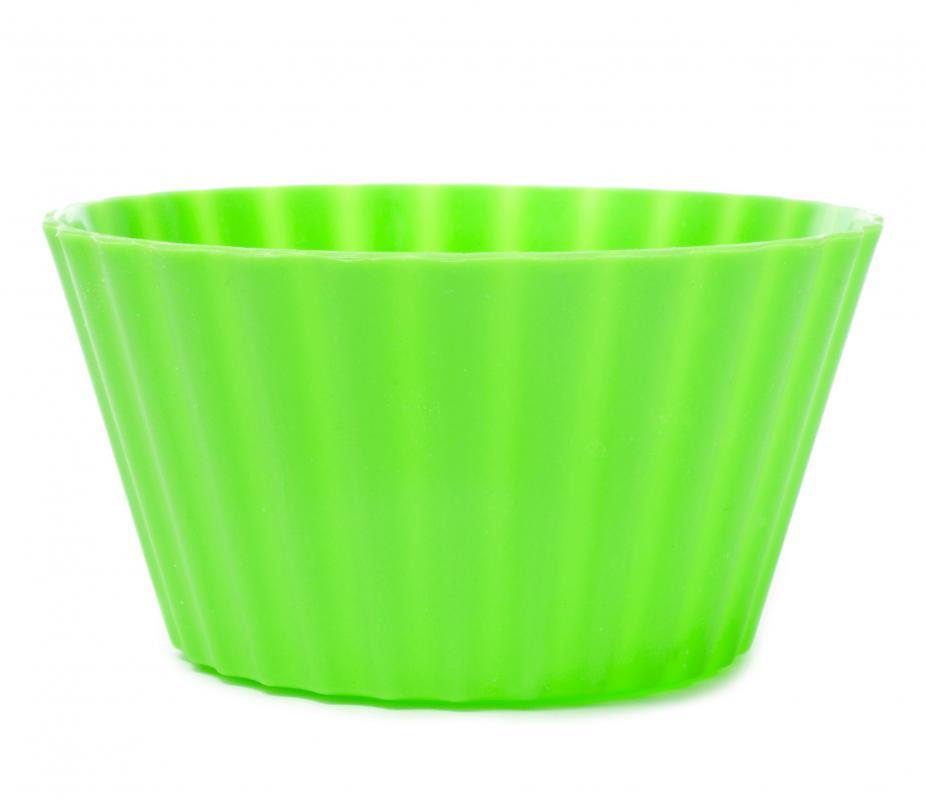 An array of bakeware, such as cupcake molds, are now made of silicone.