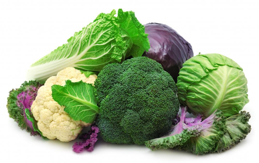 Broccoli, cabbage, and cauliflower are examples of cruciferous vegetables.