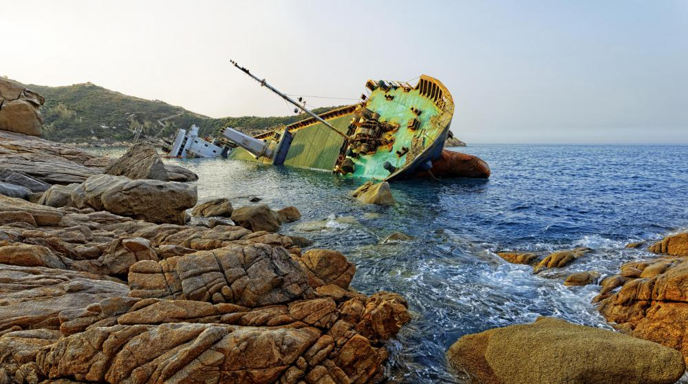 Some extreme travelers enjoy exploring wrecked ships.