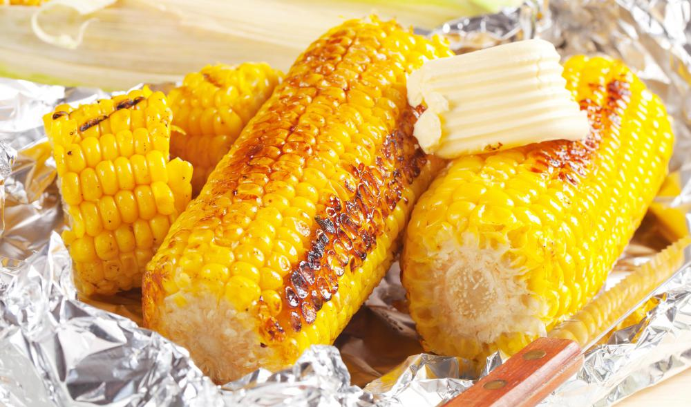 Paprika is sometimes sprinkled on top of corn.