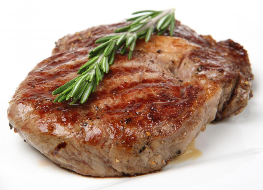 A grilled steak.