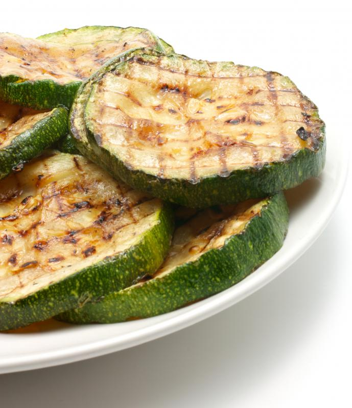 Grilled zucchini made with a vegetable roaster.