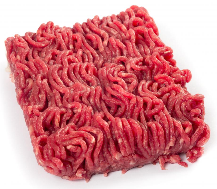 Ground beef can be formed into small patties to make mini hamburgers.