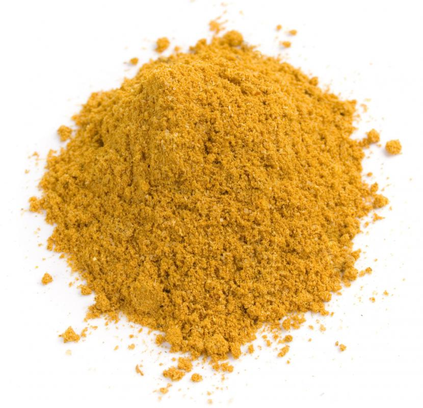 Ground cumin, which can be used to dye eggs yellow.