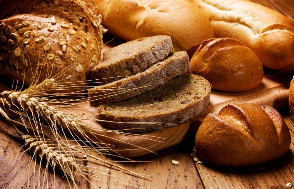 Breads and other foods made from wheat, rye, and barley contain gluten and cannot be served to anyone suffering from gluten intolerance.